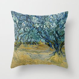 "Vincent Van Gogh ""The Olive Trees, Saint-Rémy"" Throw Pillow"