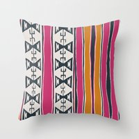 cleveland Throw Pillows featuring Cleveland 4 by Little Brave Heart Shop