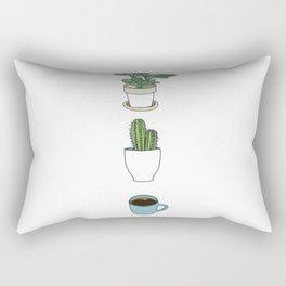 Plants Cactus & Coffee Rectangular Pillow