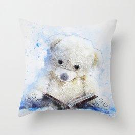 Teddy Bear Sitting Throw Pillow