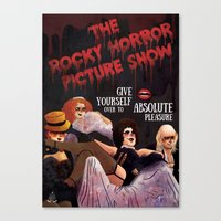 rocky horror Canvas Prints featuring Rocky Horror by Luiza Abend