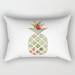 Floral Glitter Pineapple Rectangular Pillow