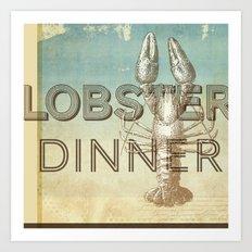 Lobster Dinner Art Print