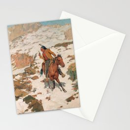 Charles Schreyvogel In Hot Pursuit Stationery Cards