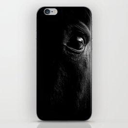 BW horse eye iPhone Skin