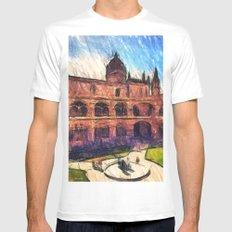 Jerónimos Monastery White MEDIUM Mens Fitted Tee