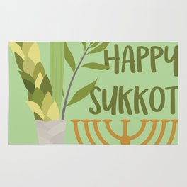 Sukkot Shalom Best Wishes for the Sukkot Holiday Rug