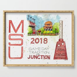 2018 MSU Game Day - The Junction Serving Tray