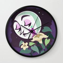 The Moth and Moon Wall Clock