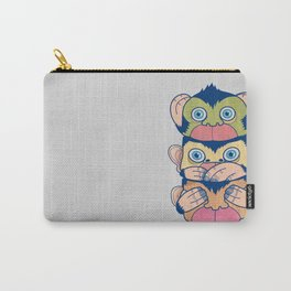 Hear no evil, Speak no evil, See no evil Carry-All Pouch