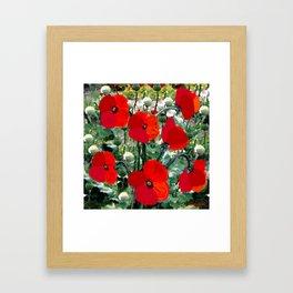 Surreal Poppy Garden Framed Art Print