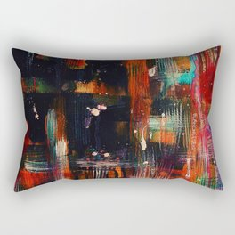Dark Heat, Abstract Watercolor Painting, Home Decor, Living Room, Dining Room, Acrylic, Art Prints Rectangular Pillow