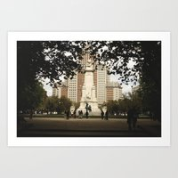 madrid Art Prints featuring Madrid by cristinacarrion