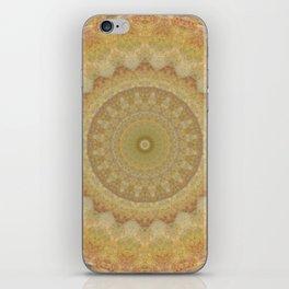 Topaz Gold Sun Marble Mandala iPhone Skin