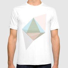 pentagonal dipyramid White MEDIUM Mens Fitted Tee