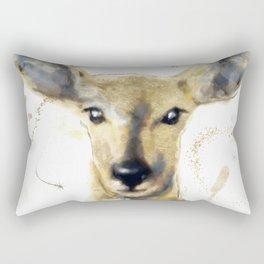 Golden Forest Deer Rectangular Pillow