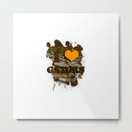 I heart gators Metal Print