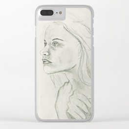 Woman undone Clear iPhone Case
