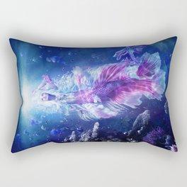 The Mermaid's Encounter Rectangular Pillow