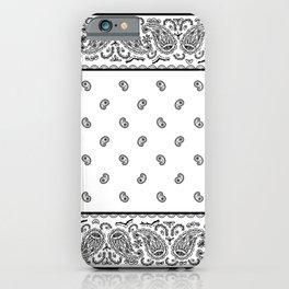 Classic White Bandana iPhone Case