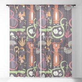 Rain forest animals 002 Sheer Curtain