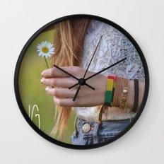Waiting for Summer Wall Clock