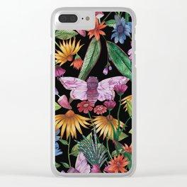 Magic Garden - Black Clear iPhone Case