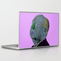 hitchcock Laptop & iPad Skins featuring Alfred Hitchcock by CultureCloth