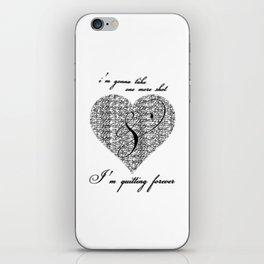 Cross my heart, cross my fingers. iPhone Skin