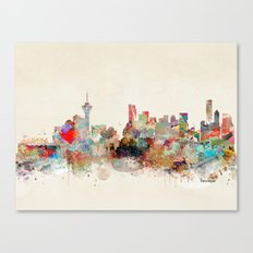 vancouver city skyline Canvas Print