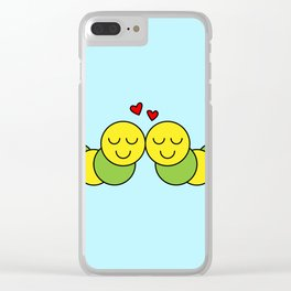 Sweet Caterpillars Clear iPhone Case