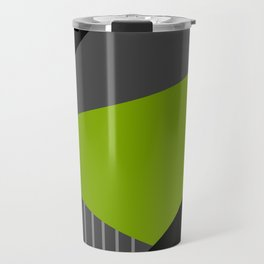 Memphis gray green . Travel Mug