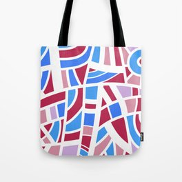 Broken Pink And Blue Abstract Tote Bag
