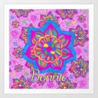pink specked flowers - Bonnie Art Print