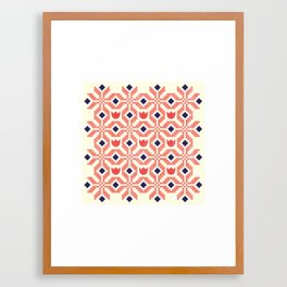 Coral Flowers Framed Art Print