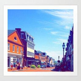Summer in Annapolis Art Print