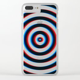 Trippy 3D Circle Clear iPhone Case
