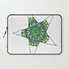 Green Superstar Mandala Star Laptop Sleeve