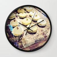 macaron Wall Clocks featuring macaron by inourgardentoo