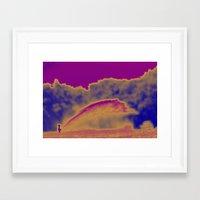 wiz khalifa Framed Art Prints featuring Big Wiz by Linda Tomei