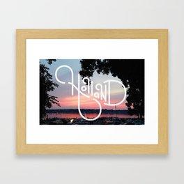 Holland Michigan, Fourth of July Framed Art Print