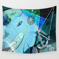 sailing Wall Tapestries featuring Sailing by Robin Curtiss