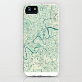 Brisbane Map Blue Vintage iPhone Case