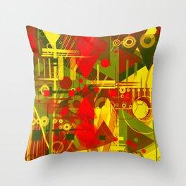Golden city Throw Pillow