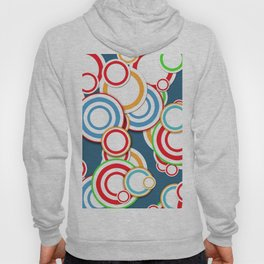 Pattern circle top Hoody