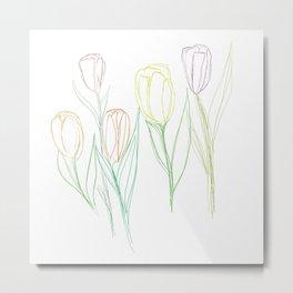 Dutch Tulips Metal Print