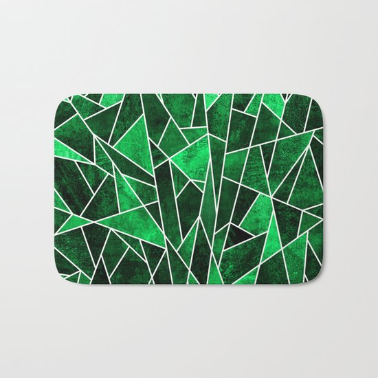 Shattered Emerald Bath Mat