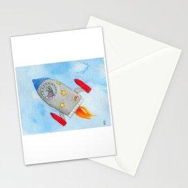 Rocket Pigeon Stationery Cards