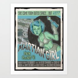 Martian Girl Art Print