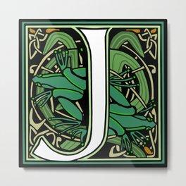 Celt Nouveau Frog Letter J 2018 Metal Print